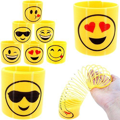 XL Emoji Spirale Strolch ┃ Neu ┃ Happy Face ┃ Kindergeburtstag ┃ Mitgebsel ┃1 Stück ()