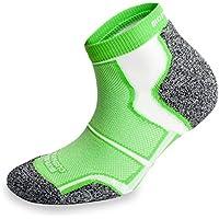 More Mile - Calcetines para correr con almohadillas Coolmax (3pares, color verde)