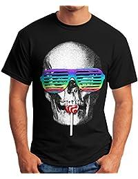 Amazon.fr   t shirt tete de mort - Fantaisie   Vêtements techniques ... 5fcb87ea2fb1