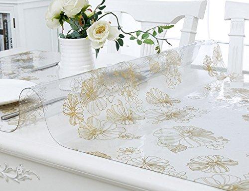Nappes De Table en Verre Souple en PVC De Table À Thé De en Cristal Transparente Anti-Chaude À l'huile Anti-Chaude (1.5mm) (Taille : 70 * 120cm)