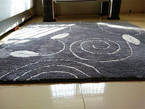 Alfombras de moda y alfombra de salón Moderno Alfombra simple grande Sala de estar Mesa de centro Sofá Estudio Dormitorio Dormitorio alfombra de la cama Alfombrillas de puerta Gris Almohadilla giratoria para silla ( Tamaño : 60*80cm )
