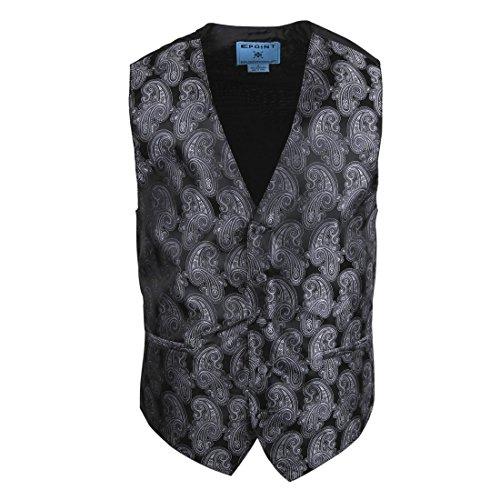 EGC2B05B-M Grau England Mode Paisley Microfiber schwarz-back Kleid Tuxedo Weste pr?sentiert Idee f¨¹r Halloween von (Männer Kleid Halloween Für)
