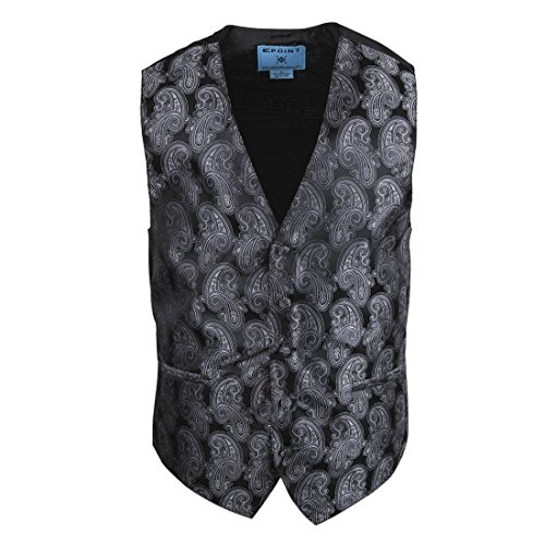 EGC2B05B-M Grau England Mode Paisley Microfiber schwarz-back Kleid Tuxedo Weste pr?sentiert Idee f¨¹r Halloween von - Ideen Halloween-programm