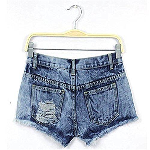 Damen Denim  Hose  , Btruely  Damen Sommer Mode Jahrgang  Denim  Niedrig Taille  Jeans  Kurze Hose Heiß  Hose (s, one farbe) (Taille Hose Original Stretch)