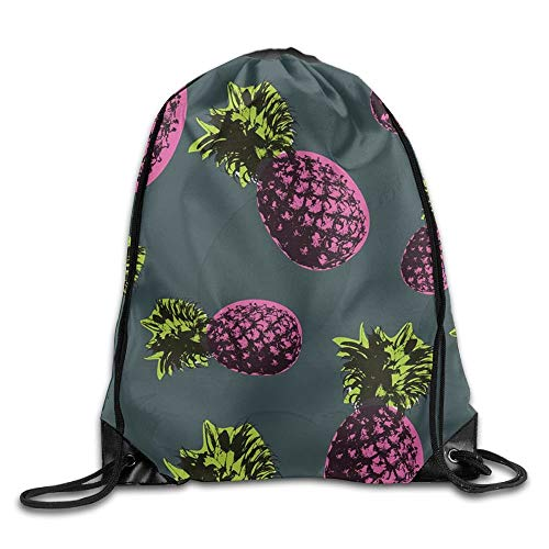uykjuykj Tunnelzug Rucksäcke, Pineapple Pura Vida Printed Designs Drawstring Backpack Boys Travel Bag Tote Dance 16.9