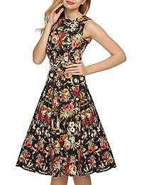 d2da3e9f4d DRESS ZLL Mujer Línea A Corte Ancho Corte Skater Vestido Noche Casual Diario  Vacaciones Vintage Simple Bonito