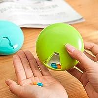 Queta tragbar klein Medizin Box Kunststoff Candy Box runden Pille Organizer Storage Box 7Raster medikamentendosierbehälter... preisvergleich bei billige-tabletten.eu
