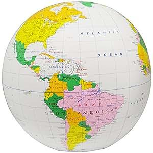 Buy sixteen inch inflatable political globe with accurate map of sixteen inch inflatable political globe with accurate map of country borders and latitude and longitude lines gumiabroncs Images
