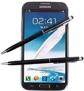 2 x SCHWARZ tomaxx Stylus Pen - Eingabestift mit Kugelschreiber für Apple iPhone 6S - Apple iPhone 6S Plus, Samsung Galaxy S5, Samsung Galaxy S5 Mini (SM-G800), IPHONE 5, iPhone 6, Samsung Galaxy Note 2 / Note 2 LTE, Allview X1 Xtreme Mini, doro PhoneEasy 632, Huawei Ascend Y550, Huawei Ascend G620s, Medion LIFE E4502, Alcatel One Touch Pop C3, Wiko Bloom, LG L50 Sporty, ACER Liquid Jade Plus