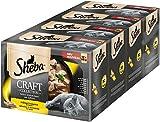 Sheba Katzenfutter Nassfutter Craft Collection - Feine Stückchen Geflügelvariation in Sauce, 4 Packungen (4 x 12 x 85 g)