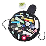 WSGQLT Magic Travel Pouch Large Capacity Toiletry Bag Cosmetic Storage Organizer Pouch Makeup Bag Case