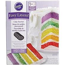 Wilton 2105-0112 - Set 5 moldes capas para Layer Cakes, 15.2 cm diam