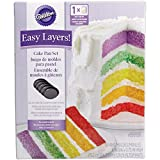 Wilton 2105-0112 Cake Pan Easy Layers, Backform, Stahl, 15,2 cm, Anthrazit, 5 Einheiten