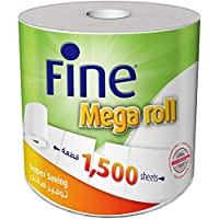 Fine Mega Roll Kitchen Paper Towel Tissue - 1500 Sheets X 2 Ply