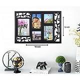 Art Street Bird Cage Black Photo Frame Collage (Set Of 5) (Photo Size- 4x6, 5x7, 4x4)