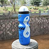 Tookie auslaufsichere Trinkflasche, 650 ml Outdoor Sports Cycle Wasserkocher Shaker Becher Krüge Water Drink Flaschen für Mountain Radfahren Racing Reiten, Blue Bottle White Decor