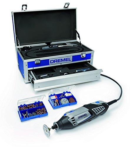 Dremel Multifunktionswerkzeug 4000-4/65 EZ (65tlg. Zubehör Set, Biegsame Welle, Kreis- und Parallelschneider, Werkzeugkoffer, 175 Watt)