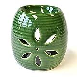 Duftöl Lampe Massageöl Wärmer Keramik grün 12x11cm