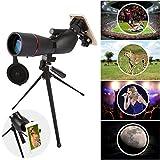 Fiturbo x Eyeskey 15-45x60 BAK4 Porroprisma Monokular Zoom Spektiv Fernglas wasserdicht, mit tragbarem Stativ und Handy-Adapter, für Vogelbeobachtung, Jagd, Wandern und Sport