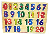 Tickles Wooden Numbers Learning Block Puzzle for Nursery Kids (1-20)