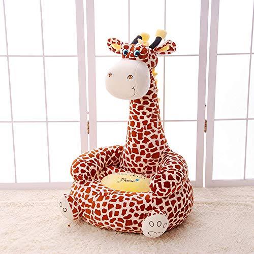 Kinder Sofa Cartoon Tier Faule Couch Plüschtiere Polstermöbel Baby Stuhl Geburtstagsgeschenk Mini-Sessel-braun B 50x45x85cm(20x18x33inch) ()