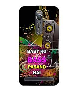 PrintVisa Designer Back Case Cover for Asus Zenfone 2 ZE551ML (Baby Bass Sultan Salman Anushka Movie Video Music)