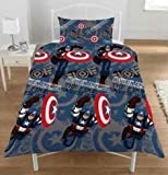 SUPERHERO CAPTAIN AMERICA THE FIRST AVENGER SINGLE DUVET QUILT COVER BEDDING SET