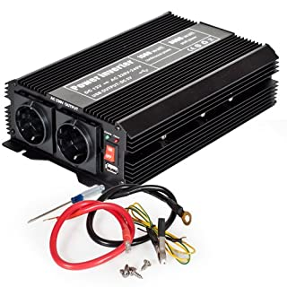 TecTake Inversor eléctrico onda modificada 12V a 220V de 1500W 3000W convertidor de voltaje (B00HVYP71U) | Amazon price tracker / tracking, Amazon price history charts, Amazon price watches, Amazon price drop alerts