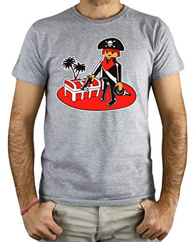 PLANETACAMISETA Camiseta Hombre - Unisex Clic Pirata