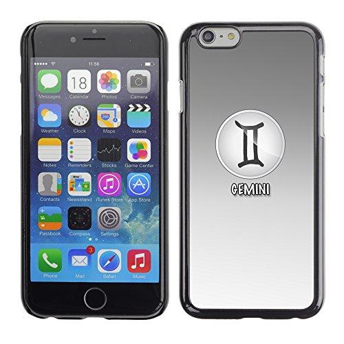 Graphic4You Aries Widder Horoskop Tierkreis Zeichen Design Harte Hülle Case Tasche Schutzhülle für Apple iPhone 6 / 6S Gemini