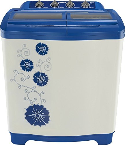 Panasonic 8 kg Semi-Automatic Top Loading Washing Machine (NA-W80H2ARB, Blue and White)