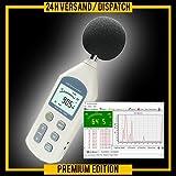 Profi Schallpegel Messgerät Lärmmesser Schallpegelmesser Lärm Umwelt Dokumentationsfunktion SP1