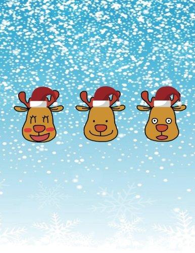 Zoom IMG-2 notebook three reindeer with santa
