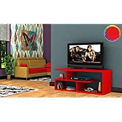 MEUBLE TV DESIGN OPTIMUM ROUGE