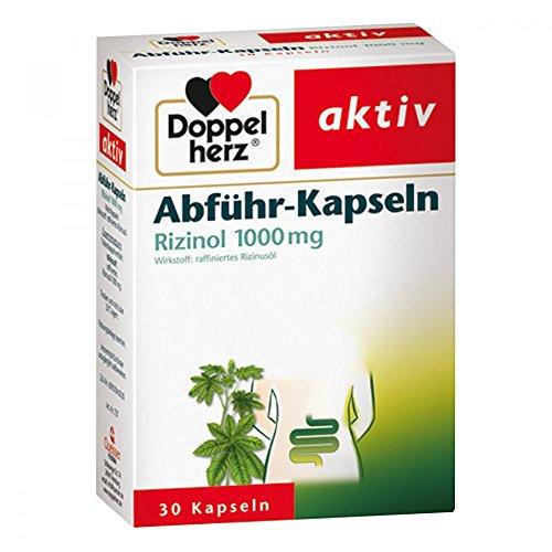 DOPPELHERZ Abführ-Kapseln Rizinol 1.000 mg 30 St Kapseln