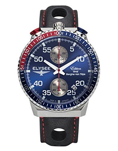 Elysee Reloj los Hombres Graf Berghe von Trips Rally Timer I Cronógrafo 80521MM