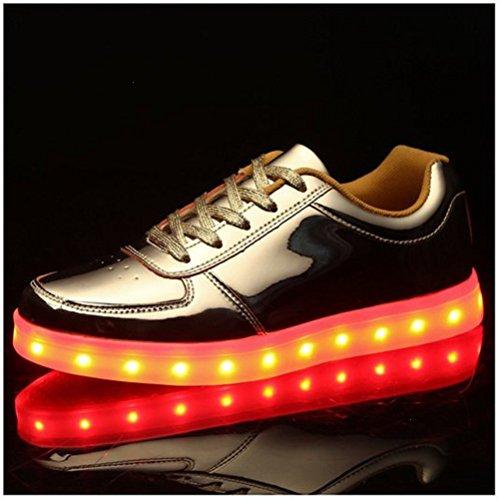 (Present:kleines Handtuch)JUNGLEST® Kinder Jungen Mädchen LED Schuhe Leuchtend Sneaker Farbwechsel Fluorescence Turnschuhe Sportsschu c17