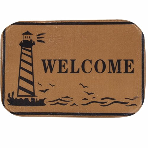 O-C Lighthouse Welcome Outdoor Indoor Antiskid Absorbent Bedroom Livingroom Bath Mat Bathroom Shower Rugs Doormats