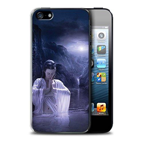 Officiel Elena Dudina Coque / Etui pour Apple iPhone 5/5S / Masque d'Hiver Design / Un avec la Nature Collection Lagune À la Nuit