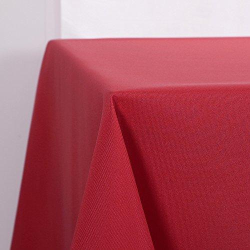 Deconovo Nappe Decoratif Doux Imperméable de Table 130x160 cm Rouge