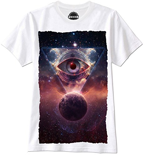 PHUNKZ MAGLIETTA T SHIRT SPACE UNIVERSE EYE HIPSTER TRIANGLE SWAG FRESH PARIS CALI ELEVEN, XL