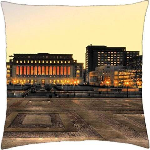 butler library columbia university nyc - Throw Pillow Cover Case (18