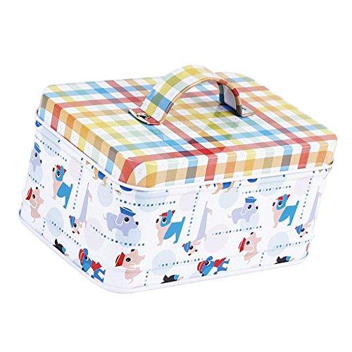 Sharplace Metalldose Metallbox Metall Behälter Container Organizer mit Deckel für Aufbewahrungsbox - Hund -