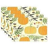 SENNSEE Kürbisse Muster Tisch-Sets Home Teller Fußmatte Esstisch hitzebeständig Küche Tisch Matte 30,5x 45,7cm, gelb, Polyester, Mehrfarbig, 1 Stück