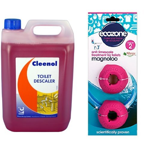 cleenol-082952x5-toilet-descaler-and-ecozone-magnoloo-anti-limescale-treatment-for-toilets-removes-p