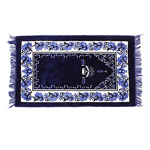 Kicode Muslim Gebet Teppiche Velvet Dicker Stoff Klassische Islam Mat Musala Cotton - Islam-teppich