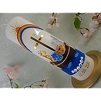 Taufkerze Arche Noah bunt gold Taufkerzen Tiere Junge Mädchen 250/70 mm personalisiert