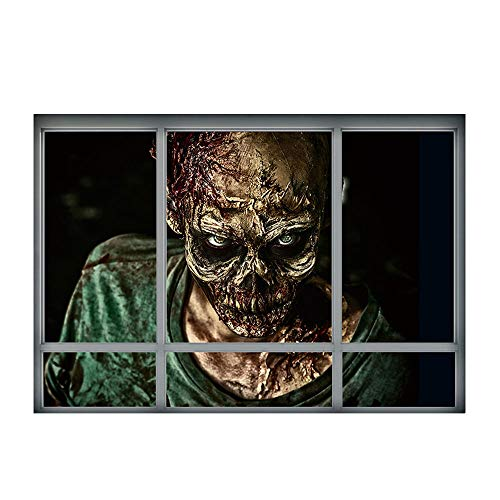 Wandaufkleber, 3D Halloween Zombie Aufkleber Wandtattoo Tapete Kreative Corpse Pvc Büro Home Decor Art Diy