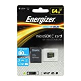 Energizer High Tech 64GB Class 10MicroSD Memory Card With Adapter