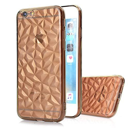 Moiky morbido tpu back cover iphone 6 plus/iphone 6s plus 3d custodia, trasparente gel gomma leggero ultra sottile originale copertura protettiva shell case per iphone 6 plus/iphone 6s plus - crigio